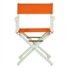 "18"" Director's Chair White Frame-Tangerine Canvas"