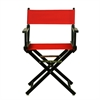 """18"""" Director's Chair Black Frame-Red Canvas"""