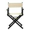 "18"" Director's Chair Black Frame-Natural/Wheat Canvas"