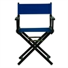 "18"" Director's Chair Black Frame-Royal Blue Canvas"