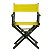 "18"" Director's Chair Black Frame-Yellow Canvas"