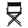 "18"" Director's Chair Black Frame-Black Canvas"