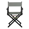 "18"" Director's Chair Black Frame-Gray Canvas"