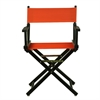 "18"" Director's Chair Black Frame-Orange Canvas"