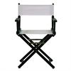"18"" Director's Chair Black Frame-White Canvas"