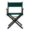 "18"" Director's Chair Black Frame-Hunter Green Canvas"