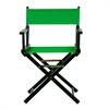 "18"" Director's Chair Black Frame-Green Canvas"