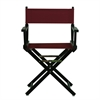 "18"" Director's Chair Black Frame-Burgundy Canvas"