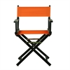 "18"" Director's Chair Black Frame-Tangerine Canvas"