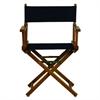 "18"" Director's Chair Honey Oak Frame-Navy Blue Canvas"