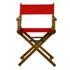 "18"" Director's Chair Honey Oak Frame-Red Canvas"