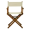 "18"" Director's Chair Honey Oak Frame-Natural/Wheat Canvas"