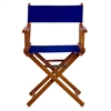 "18"" Director's Chair Honey Oak Frame-Royal Blue Canvas"