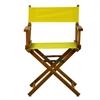 "18"" Director's Chair Honey Oak Frame-Yellow Canvas"
