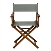 "18"" Director's Chair Honey Oak Frame-Gray Canvas"