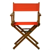 "18"" Director's Chair Honey Oak Frame-Orange Canvas"