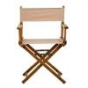 "18"" Director's Chair Honey Oak Frame-Tan Canvas"