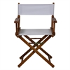 "18"" Director's Chair Honey Oak Frame-White Canvas"
