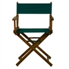 "18"" Director's Chair Honey Oak Frame-Hunter Green Canvas"
