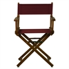 "18"" Director's Chair Honey Oak Frame-Burgundy Canvas"