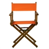 "18"" Director's Chair Honey Oak Frame-Tangerine Canvas"