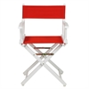 "18"" Director's Chair White Frame-Red Canvas"