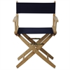 "American Trails Extra-Wide Premium 18""  Directors Chair Natural Frame W/Navy Color Cover"