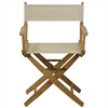 "American Trails Extra-Wide Premium 18""  Directors Chair Natural Frame W/Natural Color Cover"