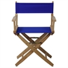 "American Trails Extra-Wide Premium 18""  Directors Chair Natural Frame W/Royal Blue Color Cover"
