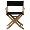 "American Trails Extra-Wide Premium 18""  Directors Chair Natural Frame W/Black Color Cover"