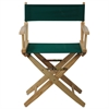 "American Trails Extra-Wide Premium 18""  Directors Chair Natural Frame W/Hunter Green Color Cover"