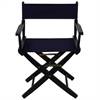 "American Trails Extra-Wide Premium 18""  Directors Chair Black Frame W/Navy Color Cover"