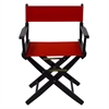 "American Trails Extra-Wide Premium 18""  Directors Chair Black Frame W/Red Color Cover"