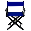 "American Trails Extra-Wide Premium 18""  Directors Chair Black Frame W/Royal Blue Color Cover"