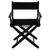 "American Trails Extra-Wide Premium 18""  Directors Chair Black Frame W/Black Color Cover"