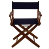 "American Trails Extra-Wide Premium 18""  Directors Chair Mission Oak Frame W/Navy Color Cover"