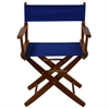 """American Trails Extra-Wide Premium 18""""  Directors Chair Mission Oak Frame W/Royal Blue Color Cover"""