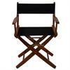 "American Trails Extra-Wide Premium 18""  Directors Chair Mission Oak Frame W/Black Color Cover"