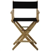"American Trails Extra-Wide Premium 24""  Directors Chair Natural Frame W/Black Color Cover"