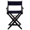 "American Trails Extra-Wide Premium 24""  Directors Chair Black Frame W/Navy Color Cover"