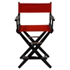 "American Trails Extra-Wide Premium 24""  Directors Chair Black Frame W/Red Color Cover"