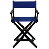 "American Trails Extra-Wide Premium 24""  Directors Chair Black Frame W/Royal Blue Color Cover"