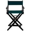 """American Trails Extra-Wide Premium 24""""  Directors Chair Black Frame W/Hunter Green Color Cover"""