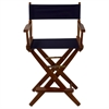 "American Trails Extra-Wide Premium 24""  Directors Chair Mission Oak Frame W/Navy Color Cover"