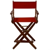 "American Trails Extra-Wide Premium 24""  Directors Chair Mission Oak Frame W/Red Color Cover"