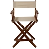 "American Trails Extra-Wide Premium 24""  Directors Chair Mission Oak Frame W/Natural Color Cover"