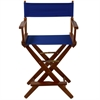 "American Trails Extra-Wide Premium 24""  Directors Chair Mission Oak Frame W/Royal Blue Color Cover"