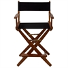 "American Trails Extra-Wide Premium 24""  Directors Chair Mission Oak Frame W/Black Color Cover"