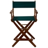 "American Trails Extra-Wide Premium 24""  Directors Chair Mission Oak Frame W/Hunter Green Color Cover"