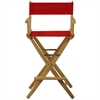 "American Trails Extra-Wide Premium 30""  Directors Chair Natural Frame W/Red Color Cover"